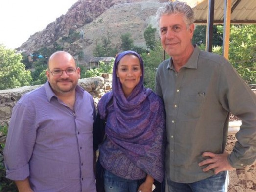 Jason posted this pic of him, Yeganeh, and Anthony Bourdain to twitter in early June, with the caption, Great conversation w/ @Bourdain & @YeganehSalehi in Darband, Tehran. Looking forward to #partsunknown #iran episode